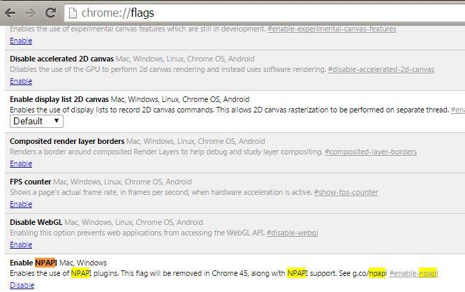 Chrome JAVA Sorunu