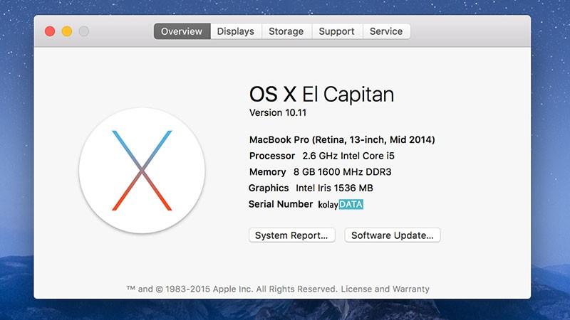 Mac OS X 10.11