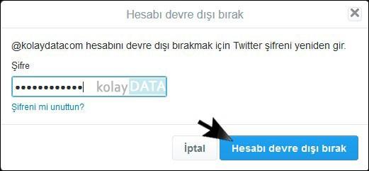 Twitter Hesap Silme 5