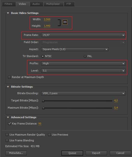Adobe Premiere ile 4K Video Yayınlama
