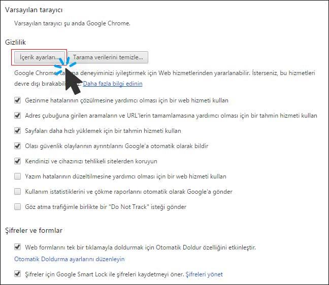 Chrome Bildirim Kapatma