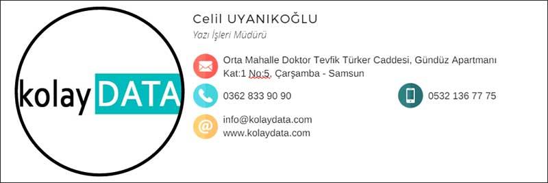 Profesyonel Mail Imzası Oluşturma Kolaydatacom