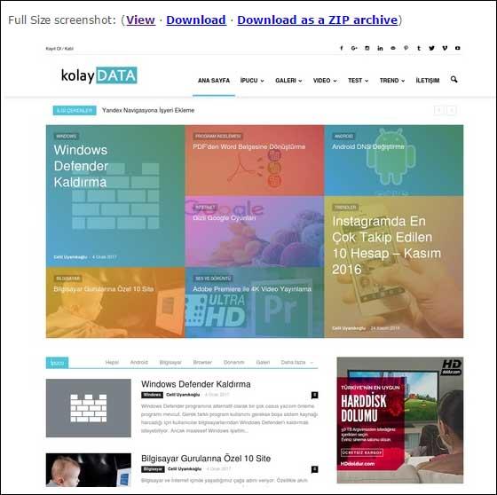 Web Sayfası Ekran Görüntüsü Almak