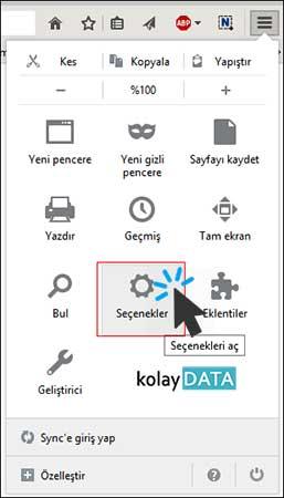 Mozilla Bildirim Kapatma