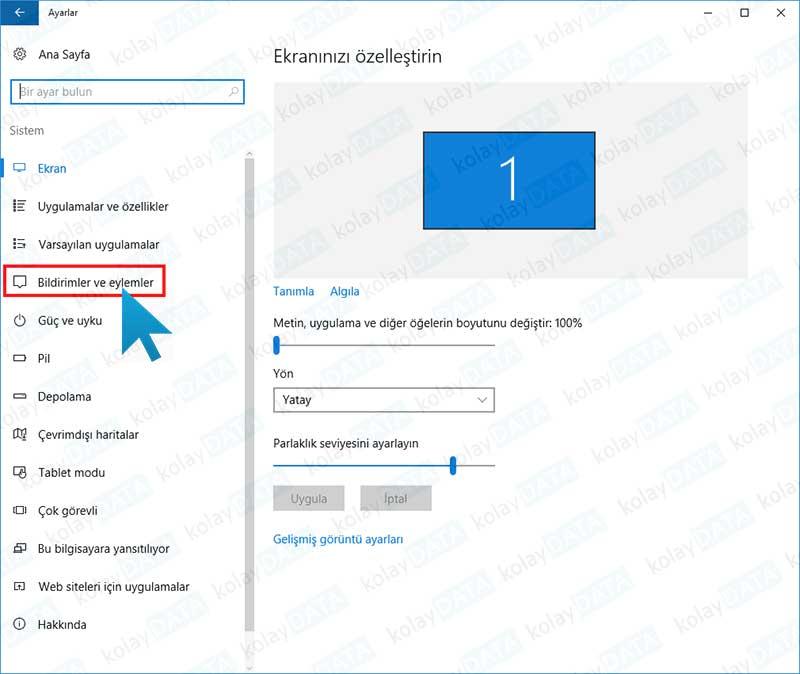 Windows 10 da Uyarı Balonunun Sesini Kapatmak
