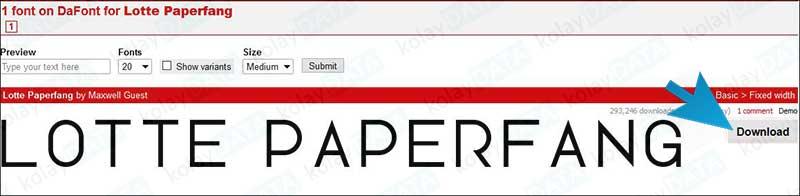 İnternetten Font Nasıl İndirilir?