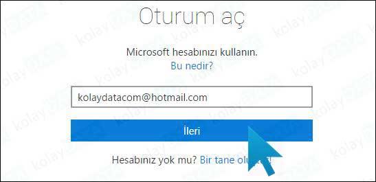 Hotmail Hesap Silme