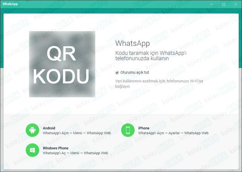 Bilgisayara Whatsapp Kurmak