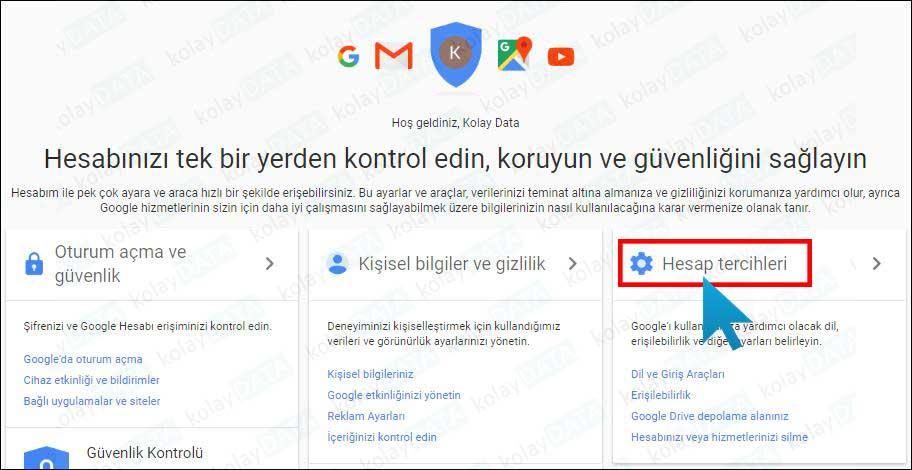 Gmail Hesap Silme