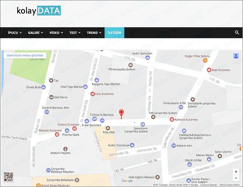 Google Harita Hatası