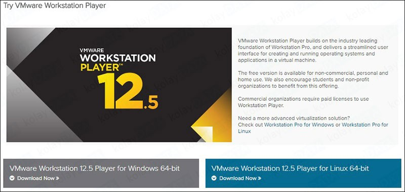 VMware Player Kurulumu