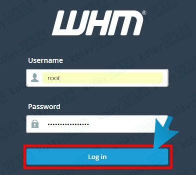 WHM Root Şifresi Değiştirme