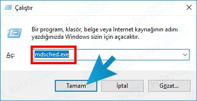 Windows RAM Testi