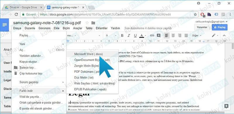 PDF Dosyası Düzenleme