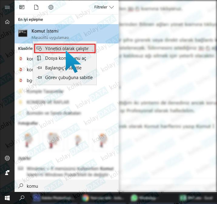 Windows 10 Kablosuz Ağı Silmek