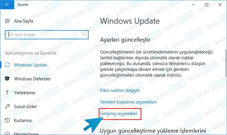 Windows Update İnternet Kullanımını Sınırlandırma