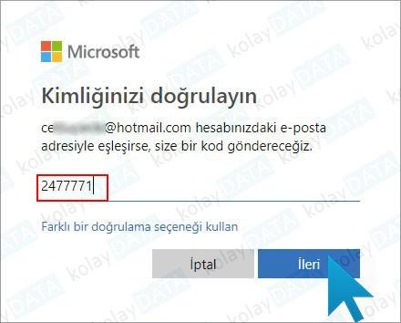 Hotmail Şifremi Unuttum