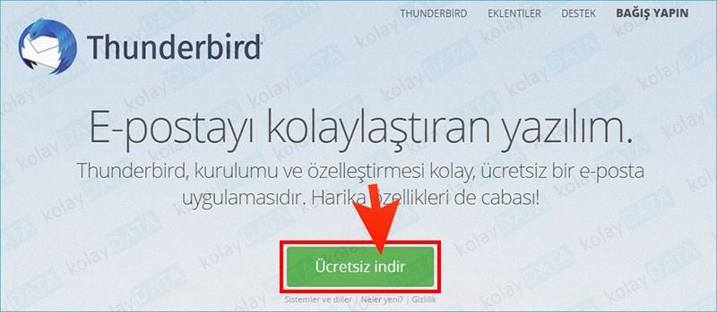 Mozilla Thunderbird kurulumu nasil yapilir