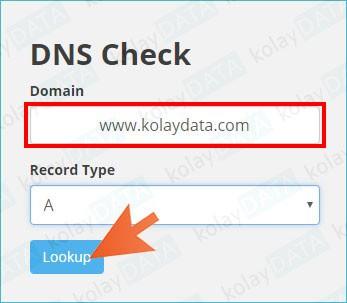 internet sitesi ip adresi öğrenmek