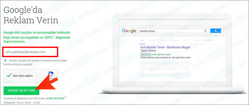 Google'a Reklam Nasıl Verilir
