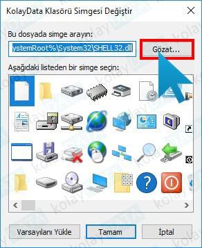 Windows Klasör Simgesini Değiştirmek