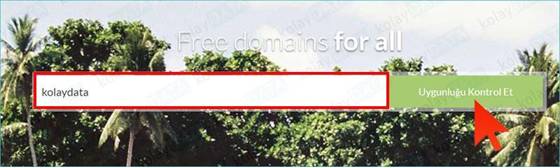 Ücretsiz Domain Alma tk uzantılı