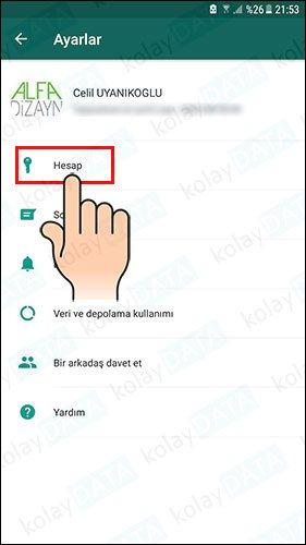 WhatsApp Kişi Engel kaldırma