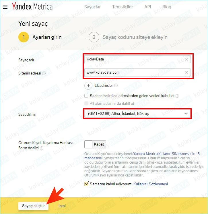 Yandex Metrica'ya Site Nasıl Eklenir