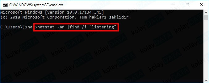 Windows'da Açık Portlar