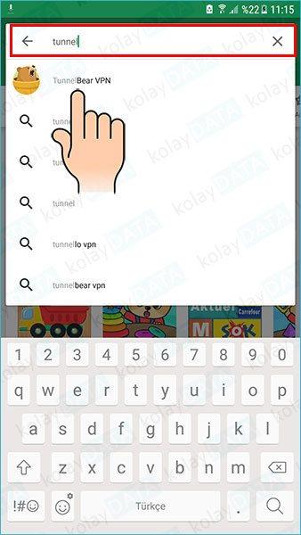 TunnelBear Nasıl Kurulur ve Kullanılır android mobil