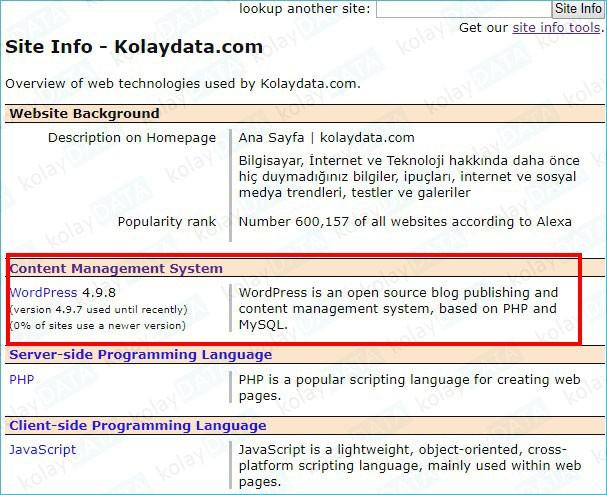 Bir İnternet Sitesi'nin Hangi Dilde Yazıldığını Öğrenmek