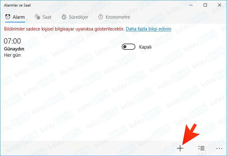 Windows 10'da Alarm Nasıl Kurulur