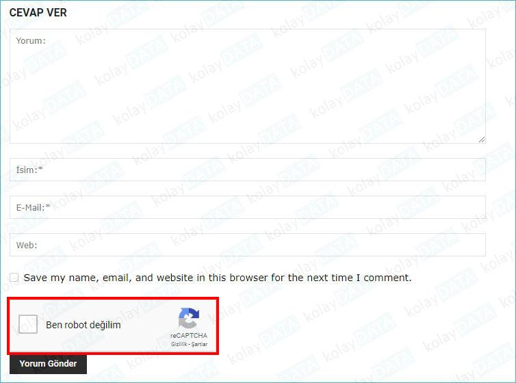 spam yorum spam kullanıcı engelleme