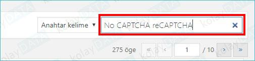 Wordpress Sitesine Google Captcha