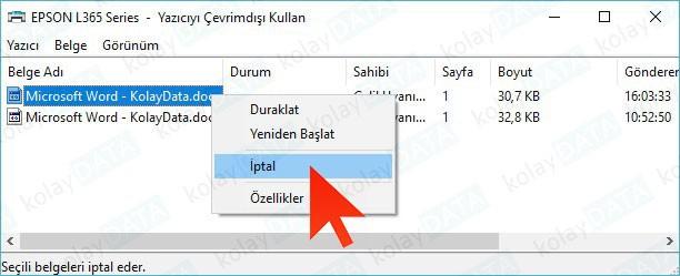 Windows'ta Silinmeyen Yazıcı Kuyruğunu Silmek / Temizlemek