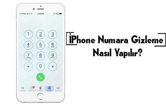 iphone da numara gizleme