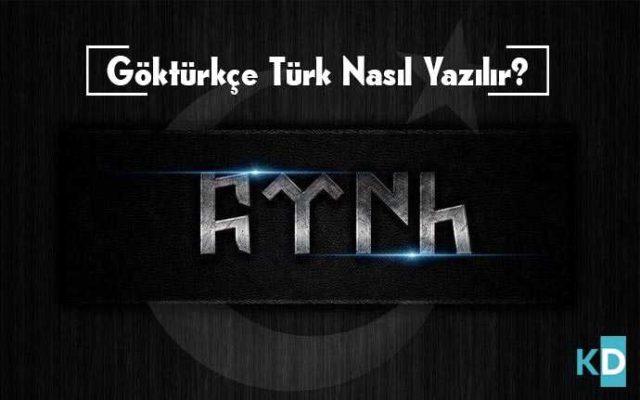 göktürkçe-türk-yazılışı