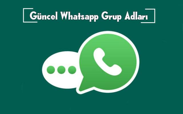 en iyi whatsapp grup adları